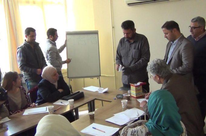"""انتخابات اللجنة الوطنية السورية """"منصة الرقة"""""""