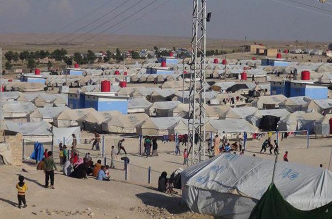 مخيم الهول في محافظة الحسكة